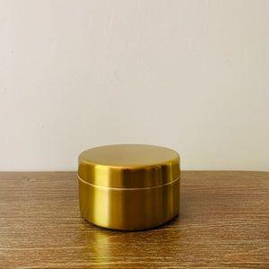 Bloomingville Accents | Stoneware Box W Gold Lid | Poshmark